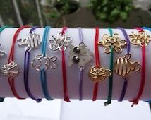 Bracelet silver/Rubber/Bracelet colors/animals/Silver bracelet/Elastic bracelet/Animals bracelet/Elastic band bracelet