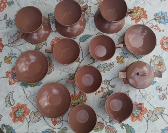 Vintage Melmac Melamine dishes in Rose/Brown  SALE!!!