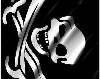 Pirate Flag Skull Crossbones Cornhole Wrap Bag Toss Decal Baggo Skin Sticker Wraps