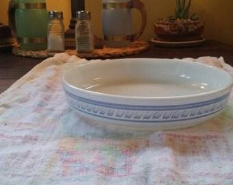 Pyrex Brittany Blue Tart Pan.
