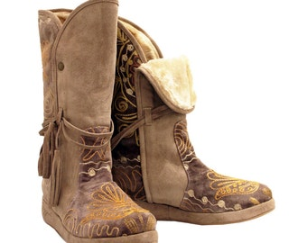 Mid Calf ONE OF A KIND Pull on Zeyzani Boots