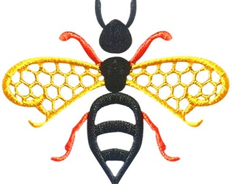 Bee Honey Embroidery Design
