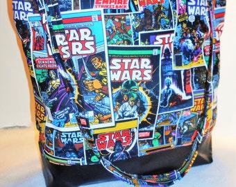 Large Star Wars Diaper Bag or Tote, Star Wars tote bag, Star Wars Baby Bag, large Star Wars Shoulder Bag, Star Wars Nursery, Star Wars Bag