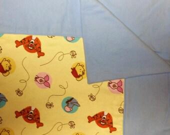Winnie the Pooh Baby Blanket, Crib Blanket, Swaddling Blanket, Eeyore, Piglet and Tigger Blanket, Flannel Blanket, Winnie the Pooh Quilt