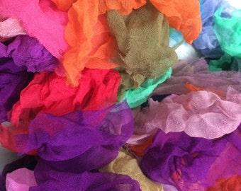 Silk scraps - silk fabric scraps -
