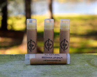 all natural beeswax lip balm - citrus
