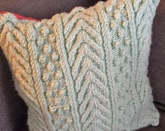 Hand Knit Throw Pillows