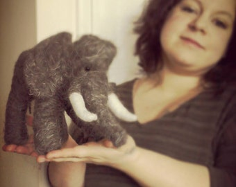 Felt Elephant, 100% Herdwick and merino needlefelted wool.