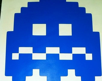 Pac-man and Ghost Vinyl Decal