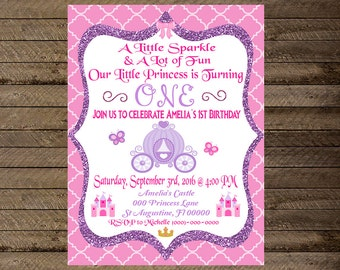 Princess invitations | Etsy