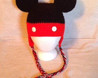 Mickey Mouse ear flap hat