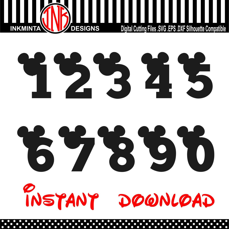 mickey number svg font walt disney font alphabet design svg. Black Bedroom Furniture Sets. Home Design Ideas