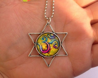 Necklace Hum yellow star
