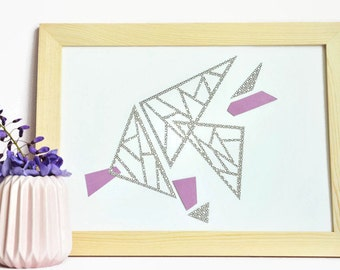 Displays graphic-paper-Design-Poster-Paper cut-gift-A4-Collage-black and white-paper cut-Triangles-object-Decoration decorative