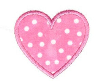 Heart Applique Design, Heart Machine Embroidery Applique, 4x4 5x7 6x10 8x8