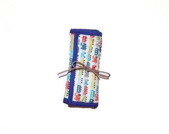 Schmee's Quilted Felt Tip Pen roller (Blue or Pink) - 8 felt tip pens included