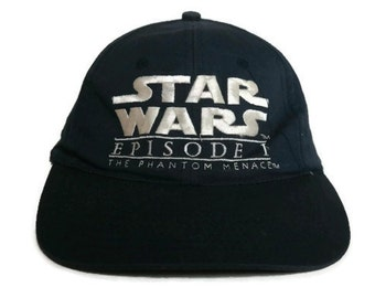 Vintage Star Wars Episode 1 The Phantom Menace Strapback Navy