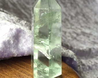 Sparkling Pale Green Fluorite energised with Heaven & Earth Starlight Essence