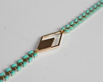end Bangle, Bangle turqouise, geometric bracelet, bracelet boho
