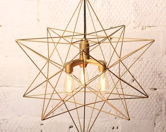 Lamp Star Triple Light Gold