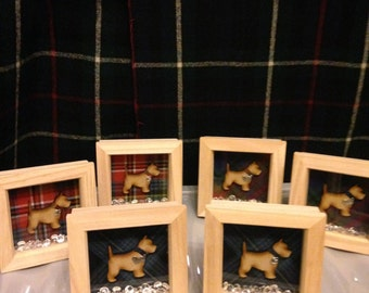 "cute tartan scottie dog frames 5x5"""