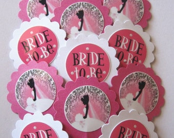 Bridal Shower Cupcake Toppers/Party Picks Item #1260 Bride/Wedding