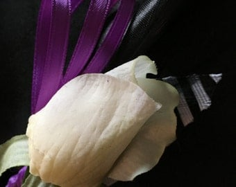 Silk flower Boutonnière for wedding