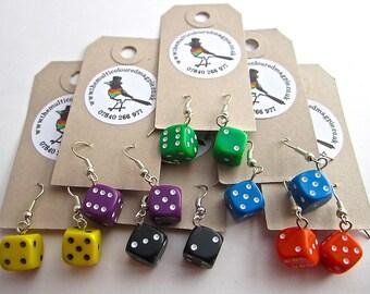Dice Earrings - Multicoloured!!