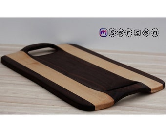 Premium Handcrafted Wood Cutting Board / Bread Board / Cheese Board / Serving Tray - Gourmet Kitchen, Bachelor Gift, Chef Gift, Kitchen Gift