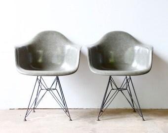 Grey Eames DAR Shell Chairs
