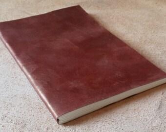 Luxury Worn Copper Wrap Around Leather Journal