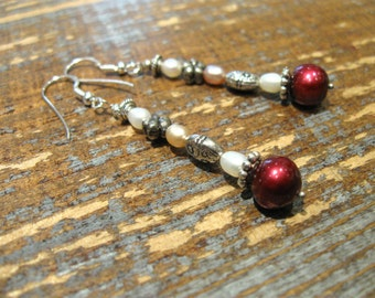 Earrings with freshwater pearls and Silver 925