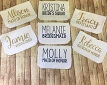 Makeup bag, cosmetic bag, Bridesmaid gift, personalized cosmetic bag, monogrammed makeup bag, travel bag, personalized bridal party gift