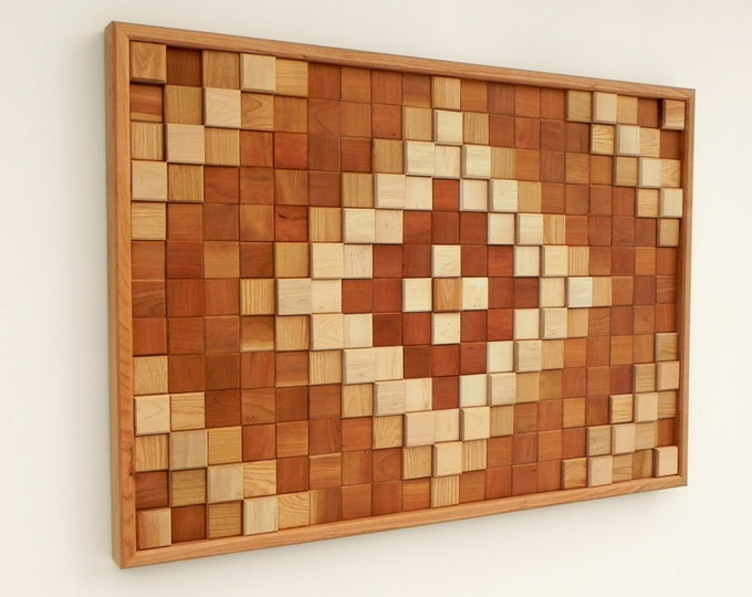 Wood Wall Art, Reclaimed Wood, Natural Wood Colors, Wall Decoration, Modern Wood Design, Wall Art, Modern Decor,