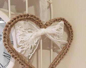 Wedding heart, Rustic Heart, shabby chic wedding, door Wreath, wedding favour, rustic Wedding, wedding Decor, Vintage decor,