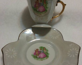 Vintage Demitasse China cup and saucer, Japan