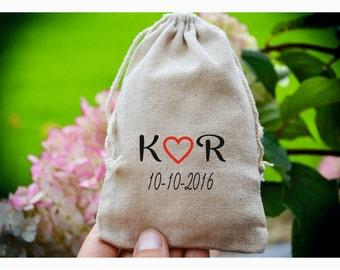 Personalized ring bearer bag, Wedding ring bag ,personalized ring holder, ring bearer pillow alternative, ring bag ,muslin bag TB8