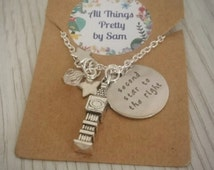 Peter Pan Second Star to the Right Silver Charm Necklace Disney Jewellery Jewelry Neverland Tinkerbell