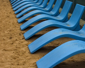 Volleyball court chairs