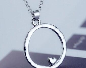 Heart Circle Pendant