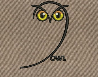 Owl - Machine Embroidery Design