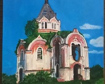 Abandoned church in Stepurino, Russia