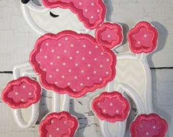Ready To Ship in 3-5 Business Days -  Poodle - Iron On or Sew On Embroidered Applique