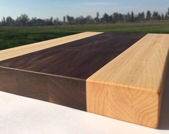 Maple and Black Walnut Cutting Board