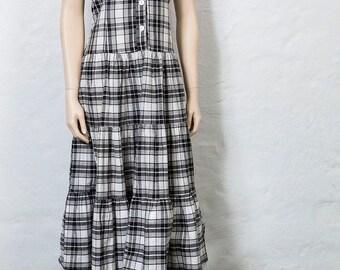 70's Gingham Dress