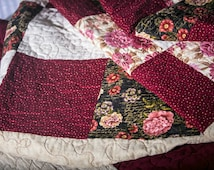 homemade queen quilt / queen size quilt / queen quilts handmade / homemade quilts for sale  / queen bedding / full quilt /  patchwork quilt