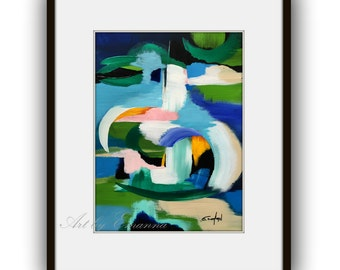 """SALE Original Abstract Painting, Contemporary Art, Modern Painting on Paper 11""""x15"""""""