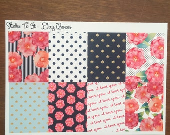 Last of Summer's Blooms Build Your Own Kit Day Boxes Erin Condren ECLP Mambi Inkwell Press Filofax Kikki K Happy Life Glitter Sticker