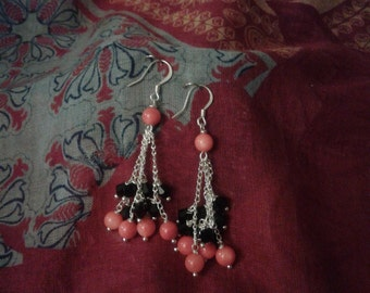 silver plated beauty earrings