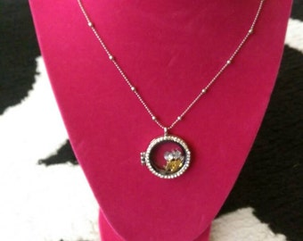 Angel and cross charm necklace